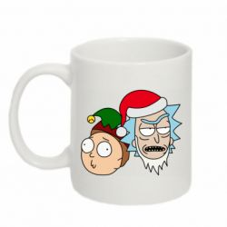 Кружка 320ml New Year's Rick and Morty