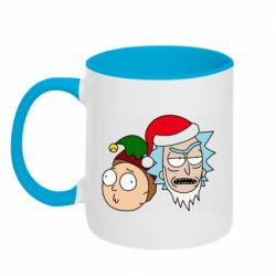 Кружка двухцветная 320ml New Year's Rick and Morty