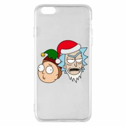 Чехол для iPhone 6 Plus/6S Plus New Year's Rick and Morty