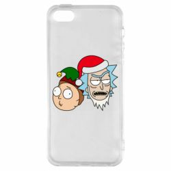 Чехол для iPhone5/5S/SE New Year's Rick and Morty