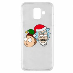 Чехол для Samsung A6 2018 New Year's Rick and Morty