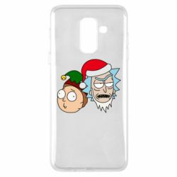 Чехол для Samsung A6+ 2018 New Year's Rick and Morty