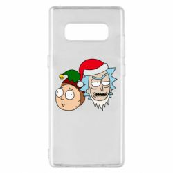 Чехол для Samsung Note 8 New Year's Rick and Morty