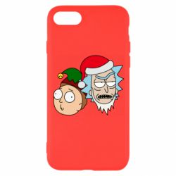 Чехол для iPhone 8 New Year's Rick and Morty