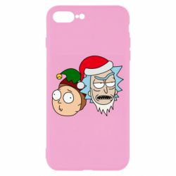 Чехол для iPhone 8 Plus New Year's Rick and Morty