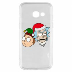 Чехол для Samsung A3 2017 New Year's Rick and Morty