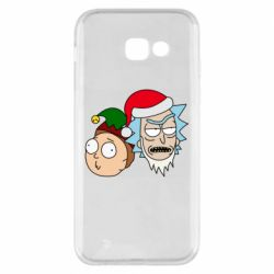 Чехол для Samsung A5 2017 New Year's Rick and Morty