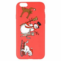 Чехол для iPhone 6 Plus/6S Plus New Year's winter cats