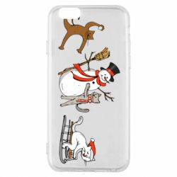 Чехол для iPhone 6/6S New Year's winter cats