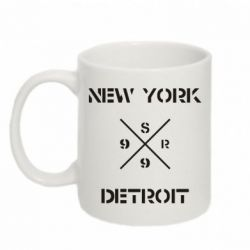Кружка 320ml New York Detroit - FatLine