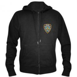 Мужская толстовка на молнии New York Police Department - FatLine