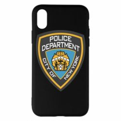 Чехол для iPhone X/Xs New York Police Department