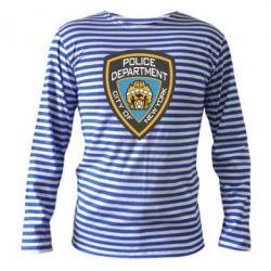 Тельняшка с длинным рукавом New York Police Department - FatLine