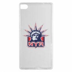 Чехол для Huawei P8 New York Rangers - FatLine