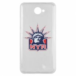 Чехол для Huawei Y7 2017 New York Rangers - FatLine