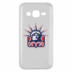Чехол для Samsung J2 2015 New York Rangers - FatLine
