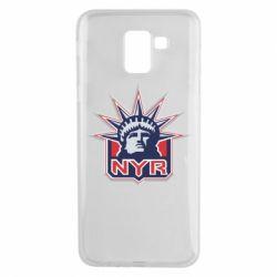 Чехол для Samsung J6 New York Rangers - FatLine