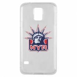 Чехол для Samsung S5 New York Rangers - FatLine