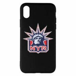 Чехол для iPhone X New York Rangers - FatLine