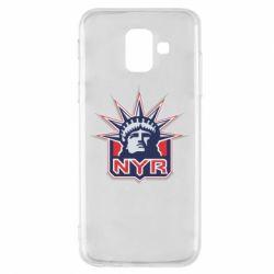 Чехол для Samsung A6 2018 New York Rangers - FatLine
