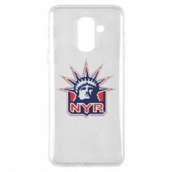 Чехол для Samsung A6+ 2018 New York Rangers - FatLine
