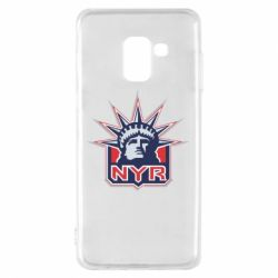 Чехол для Samsung A8 2018 New York Rangers - FatLine