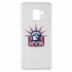Чехол для Samsung A8+ 2018 New York Rangers - FatLine
