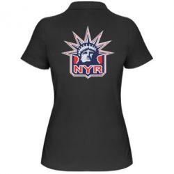 Женская футболка поло New York Rangers - FatLine