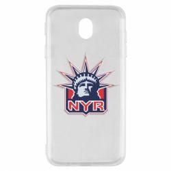 Чехол для Samsung J7 2017 New York Rangers - FatLine