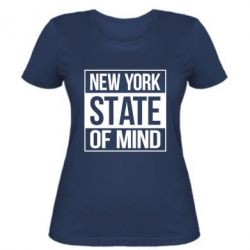 Женская футболка New York state of mind