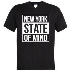 Чоловічі футболки з V-подібним вирізом New York state of mind