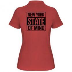 Жіноча футболка поло New York state of mind