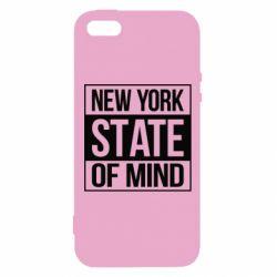 Купить Нью Йорк (New York), Чехол для iPhone5/5S/SE New York state of mind, FatLine