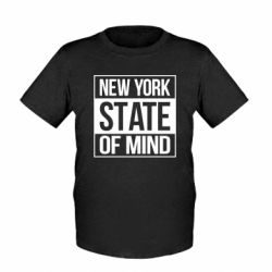 Детская футболка New York state of mind