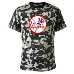 Камуфляжная футболка New York Yankees - FatLine