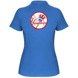 Женская футболка поло New York Yankees - FatLine