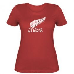 Женская футболка new zealand all blacks - FatLine