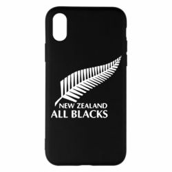 Чехол для iPhone X new zealand all blacks - FatLine