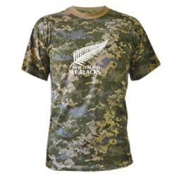 Камуфляжная футболка new zealand all blacks - FatLine
