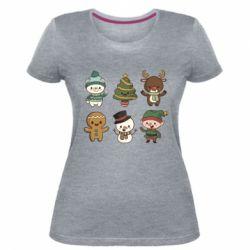 Жіноча стрейчева футболка Newborn New Year