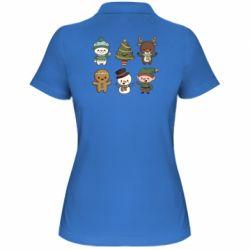 Жіноча футболка поло Newborn New Year