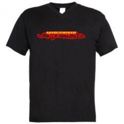Мужская футболка  с V-образным вырезом NFS Most Wanted - FatLine