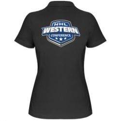Женская футболка поло NHL Western Conference
