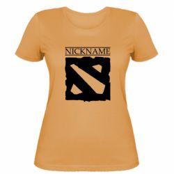 Женская футболка Nickname Dota