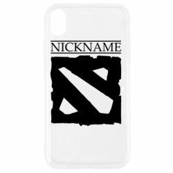 Чехол для iPhone XR Nickname Dota