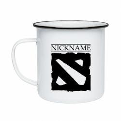 Кружка эмалированная Nickname Dota