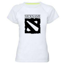 Женская спортивная футболка Nickname Dota
