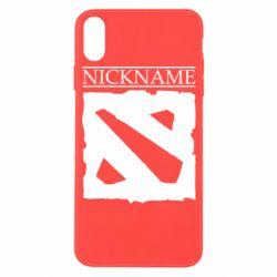 Чехол для iPhone X/Xs Nickname Dota