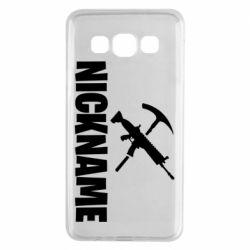 Чохол для Samsung A3 2015 Nickname fortnite weapons