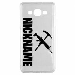 Чохол для Samsung A5 2015 Nickname fortnite weapons